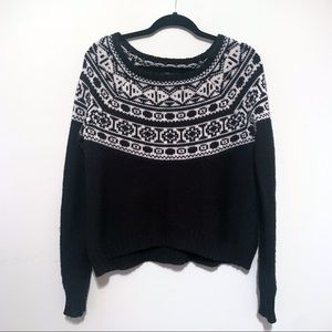 American Eagle Chunky Knit Off Shoulder Sweater